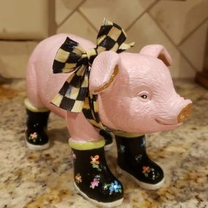 Pig in Boots with MacKenzie-Child ribbon